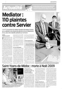 Article de presse sur le mediator
